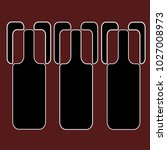 a row of 3 wine bottles  ... | Shutterstock .eps vector #1027008973