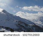 alps mountain range in winter | Shutterstock . vector #1027012003