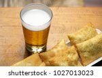 bar food  tray with typical...   Shutterstock . vector #1027013023