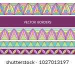 decorative borders. colorful... | Shutterstock .eps vector #1027013197