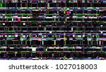 glitch background. computer... | Shutterstock . vector #1027018003