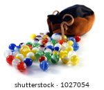 Marble Sack And Glass Marbles