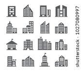 building icon set | Shutterstock .eps vector #1027080997