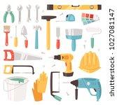 construction equipment vector... | Shutterstock .eps vector #1027081147