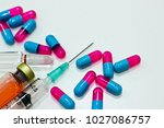 3 ml plastic syringe with... | Shutterstock . vector #1027086757