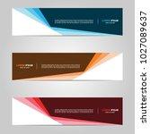 modern banner template design ... | Shutterstock .eps vector #1027089637