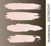 set of hand painted stripe gray ... | Shutterstock .eps vector #1027092247