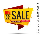 sale text tag banner for... | Shutterstock .eps vector #1027100917