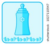 bottle. blue baby icon on a...   Shutterstock . vector #1027110547