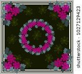 folk flower square composition. ... | Shutterstock .eps vector #1027129423
