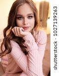 fashion photo of beautiful...   Shutterstock . vector #1027139263