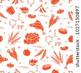 seamless pattern with foods... | Shutterstock .eps vector #1027150897