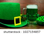 saint patrick's day. green... | Shutterstock . vector #1027154857