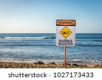 a warning sign indicating... | Shutterstock . vector #1027173433