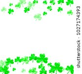 shamrock background for saint... | Shutterstock .eps vector #1027174393