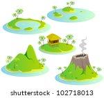 fun cartoon map elements ... | Shutterstock .eps vector #102718013