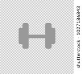 dumbbell vector icon eps 10.... | Shutterstock .eps vector #1027186843