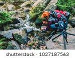 photographer asian women... | Shutterstock . vector #1027187563