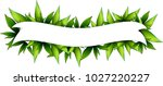 holiday ribbon with many green... | Shutterstock .eps vector #1027220227