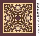 laser cutting panel. golden...   Shutterstock .eps vector #1027225057