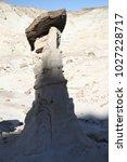 white hoodoos  chimney rock ... | Shutterstock . vector #1027228717