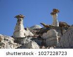 white hoodoos  chimney rock ... | Shutterstock . vector #1027228723