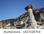 white hoodoos  chimney rock ... | Shutterstock . vector #1027228753