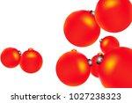colored christmas balls pattern.... | Shutterstock .eps vector #1027238323
