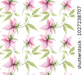 delicate watercolor flowers in ... | Shutterstock . vector #1027238707