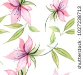 delicate watercolor flowers in ... | Shutterstock . vector #1027238713