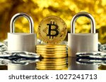 physical version of bitcoin ... | Shutterstock . vector #1027241713