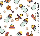 baby elements pattern vector