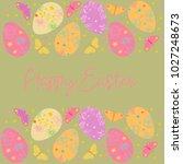 decorative easter eggs .easter... | Shutterstock .eps vector #1027248673