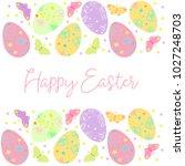 decorative easter eggs .easter... | Shutterstock .eps vector #1027248703