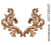 retro baroque decorations... | Shutterstock .eps vector #1027250107