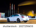 Small photo of Orenburg, Russia - March 1, 2015: Opel Insignia OPC at night with additional lighting