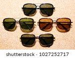 eyewear sun glasses photography  | Shutterstock . vector #1027252717