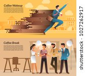 illustrations concept coffee... | Shutterstock .eps vector #1027262917