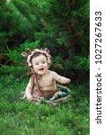little  very beautiful girl ...   Shutterstock . vector #1027267633