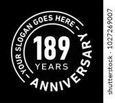 189 years anniversary logo... | Shutterstock .eps vector #1027269007