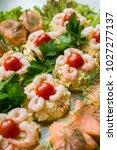 homemade fish plate from... | Shutterstock . vector #1027277137