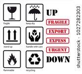 set of symbols for packaging ... | Shutterstock .eps vector #1027282303