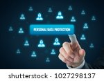 personal data protection...   Shutterstock . vector #1027298137