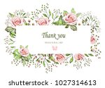 floral frame with leaves and... | Shutterstock . vector #1027314613