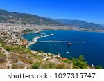 red tower and marina view from... | Shutterstock . vector #1027315747