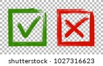 tick and cross signs  approval... | Shutterstock .eps vector #1027316623