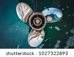close up image of  three bladed ... | Shutterstock . vector #1027322893