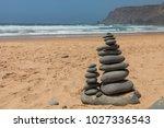 beach in portugal | Shutterstock . vector #1027336543