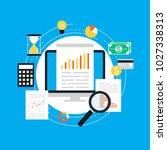business graph statistics flat...   Shutterstock .eps vector #1027338313