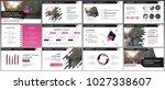 pink presentation templates... | Shutterstock .eps vector #1027338607
